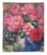 Vivacious Roses Fleece Blanket
