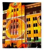 Vivid Sydney 2014 - Museum Of Contemporary Arts 2 By Kaye Menner Fleece Blanket