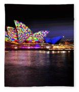 Vivid Sydney 2014 - Opera House 5 By Kaye Menner Fleece Blanket
