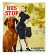 Vizsla Art Canvas Print - Bus Stop Movie Poster Fleece Blanket