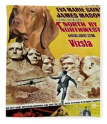 Vizsla Art Canvas Print - North By Northwest Movie Poster Fleece Blanket