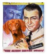 Vizsla Art Canvas Print - The Glenn Miller Story Movie Poster Fleece Blanket