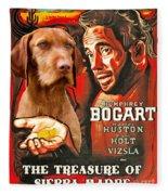 Vizsla Art Canvas Print - The Treasure Of The Sierra Madre Movie Poster Fleece Blanket