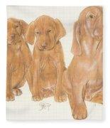 Vizsla Puppies Fleece Blanket