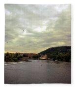 Vltava View Revisited - Prague Fleece Blanket