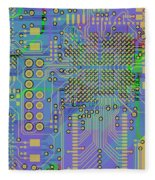 Vo96 Circuit 7 Fleece Blanket