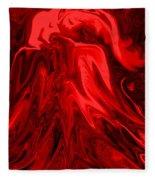 Red Volcanic Dreams Fleece Blanket
