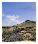 Volcanic Landscape Fleece Blanket