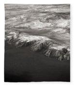 Volcano Ash Iceland Fleece Blanket