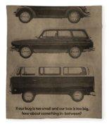 Volkswagen Advertisement Fleece Blanket