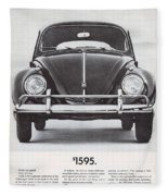 Volkswagen Beetle Fleece Blanket