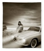 Volkswagen Karmann Ghia Fleece Blanket