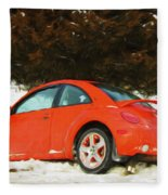 Volkswagen Snow Day Fleece Blanket