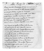 Voltaire Letter, 1740 Fleece Blanket