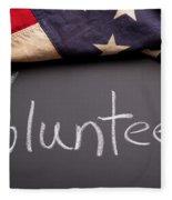 Volunteer Sign On Chalkboard Fleece Blanket