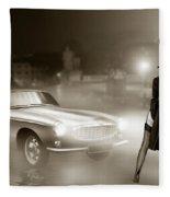 Volvo P1800 And Hot Detective Fleece Blanket