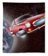 Volvo P1800 Goes Back To The Future Fleece Blanket