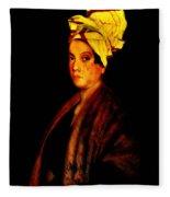 Voodoo Queen - Marie Laveau Fleece Blanket