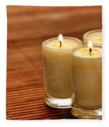 Votive Candle Burning Fleece Blanket