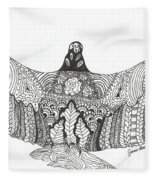 Vulture Wild Ink Fleece Blanket
