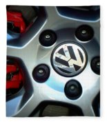 Vw Gti Wheel Fleece Blanket