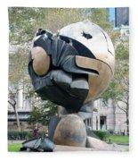 W T C Fountain Sphere Fleece Blanket