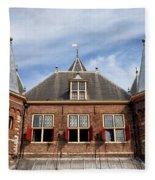 Waag In Amsterdam Fleece Blanket