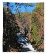 Wachusett Reservoir Spillway 2 Fleece Blanket