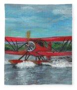 Waco Cabin Biplane Circa 1930 Fleece Blanket