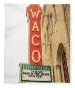 Waco Movie Theater With Sign, Waco Fleece Blanket