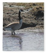 Wading Goose Fleece Blanket