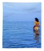 Wading In Fleece Blanket