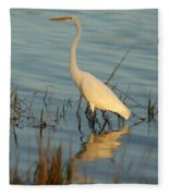 Wading The Pond Fleece Blanket