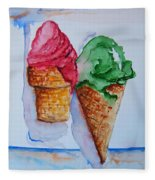 Wafer Or Waffle Cone Fleece Blanket