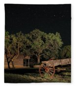 Wagon And Stars 2am 115859and115863_stacked Fleece Blanket