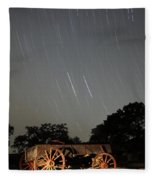 Wagon And Stars 2am 115864and115870 Stacked Image Fleece Blanket