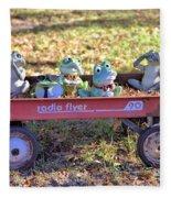 Wagon Full Of Frogs Fleece Blanket