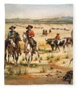 Wagon Train Fleece Blanket