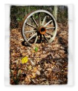 Wagon Wheel Daffodil Fleece Blanket