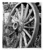 Wagon Wheel - No Where To Go - Bw 01 Fleece Blanket