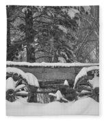 Wagon Wheels June Lake Fleece Blanket
