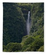 Wailua Stream Waiokane Falls View From Wailua Maui Hawaii Fleece Blanket