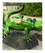 Waikiki Gecko Fleece Blanket