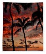 Waikiki Sunset Fleece Blanket