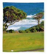 Wailua Golf Course - Hole 17 - 2 Fleece Blanket