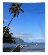 Waimanalo Beach  Fleece Blanket