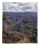 Waimea Canyon 5 - Kauai Hawaii Fleece Blanket