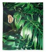 Waipeo Green Fleece Blanket