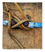 Waiting - Boat Tie Cleat By Sharon Cummings Fleece Blanket