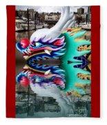 Waiting Dragon Reflect  Fleece Blanket